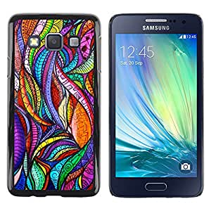 Exotic-Star ( Leaves Nature Art Glass Floral ) Fundas Cover Cubre Hard Case Cover para Samsung Galaxy A3 / SM-A300