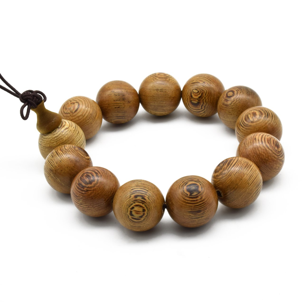 Zen Dear Unisex Natural Wenge Mala Prayer Beads Necklace Bracelet Meditation Buddhist Rosary Mala Beads ZD-WGW-00-00