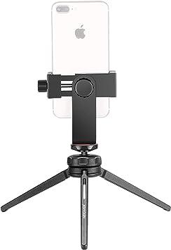 Neewer Mini Trípode Sobremesa Portable Establizador Grip con Rótula Giratoria, Abrazadera de Móvil, Control Remoto Bluetooth para iPhone,Samsung,Huawei Smartphone,Cámara DSLR, Carga hasta 3Kg: Amazon.es: Electrónica