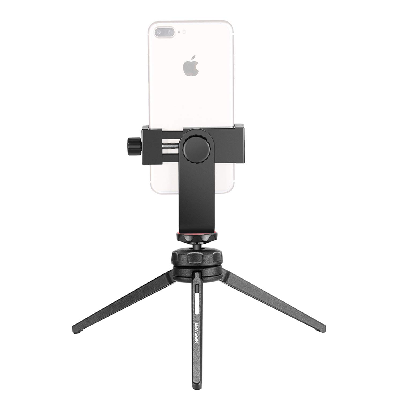 Neewer Mini Tr/ípode Sobremesa Portable Establizador Grip con R/ótula Giratoria Carga hasta 3Kg Control Remoto Bluetooth para iPhone,Samsung,Huawei Smartphone,C/ámara DSLR Abrazadera de M/óvil