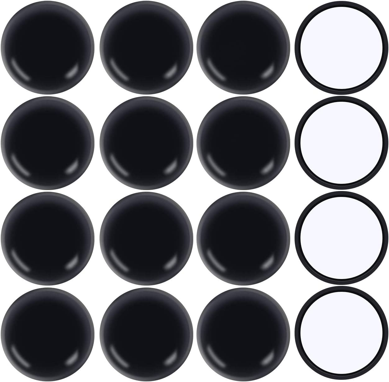 """Ezprotekt Round Black 16 Pack Self-Stick Furniture Sliders 2-1/8"""" Furniture Moving Pads Heavy Duty Adhesive Furniture Movers Chair Glides for Carpet"""
