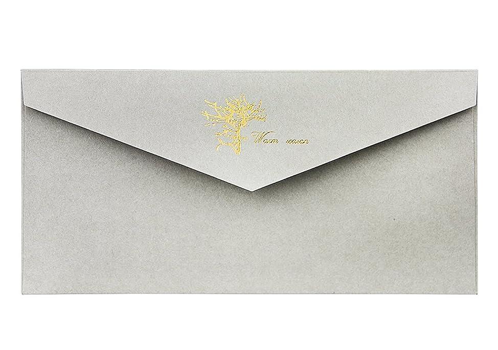 閉じる耕す経験的G.C.PRESS 封筒 ローズタンドル [ 4枚入 / 100 x 190 mm] お手紙 シンプル レター (誕生日/父の日/多目的)