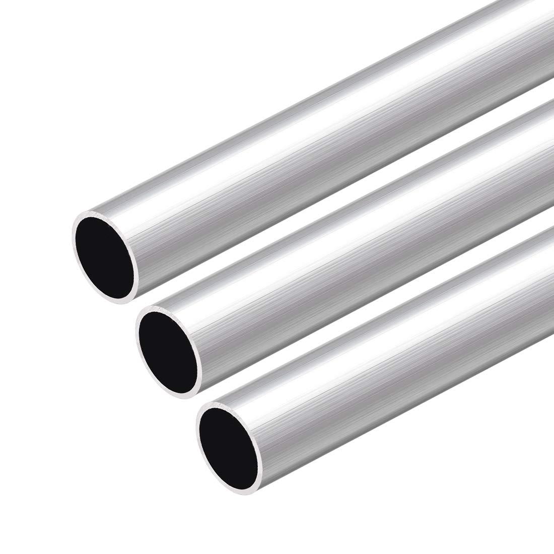 sourcing map 6063 Aluminium Rond Tube 300mm Longueur 18mm OD 5-15mm Diam/ètre Int/érieur Sans Couture Aluminium Droit Tuyauterie 15mm ID x 17mm OD 2Pcs