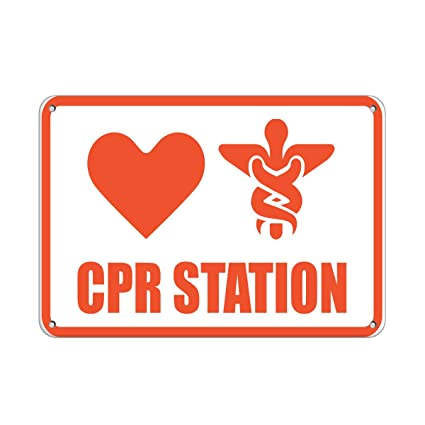 Amazon.com: Cpr Station – Señal de advertencia médica de ...