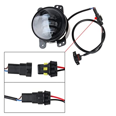 LED Fog Lights Lamp Adapter Wires For 2010 and up Jeep Wrangler JK: Automotive