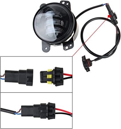 LED Fog Lights Lamp Adapter Wires For 2010 and up Jeep Wrangler JK Jeep Fog Light Wiring Harness on speed sensor harness, tail light pigtail harness, fog lights for cars, fog light yellow paint, fog light connectors, fog light bumper, fog light resistor, pontiac g6 low beam harness, fog light bulbs, camaro fog light harness, fog lights kit chevy, fog light hood, motor harness, fog light accessories, fog light cover, fog light glass, fog light bracket, fog light computer, fog light grille, fog light switches,