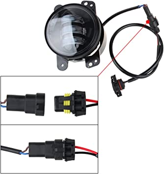 amazon.com: led fog lights lamp adapter wires for 2010 and up jeep wrangler  jk: automotive  amazon.com
