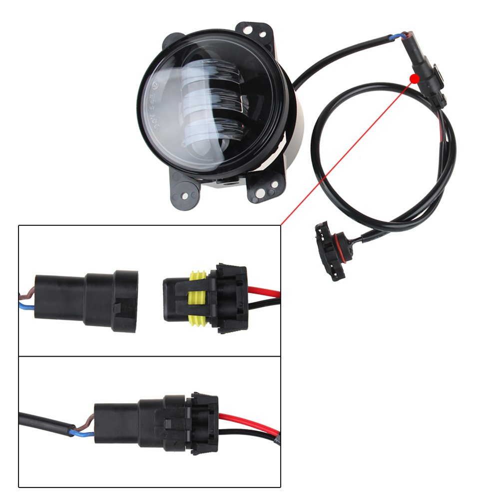 LED Fog Lights Lamp Adapter Wires For 2010 and up Jeep Wrangler JK