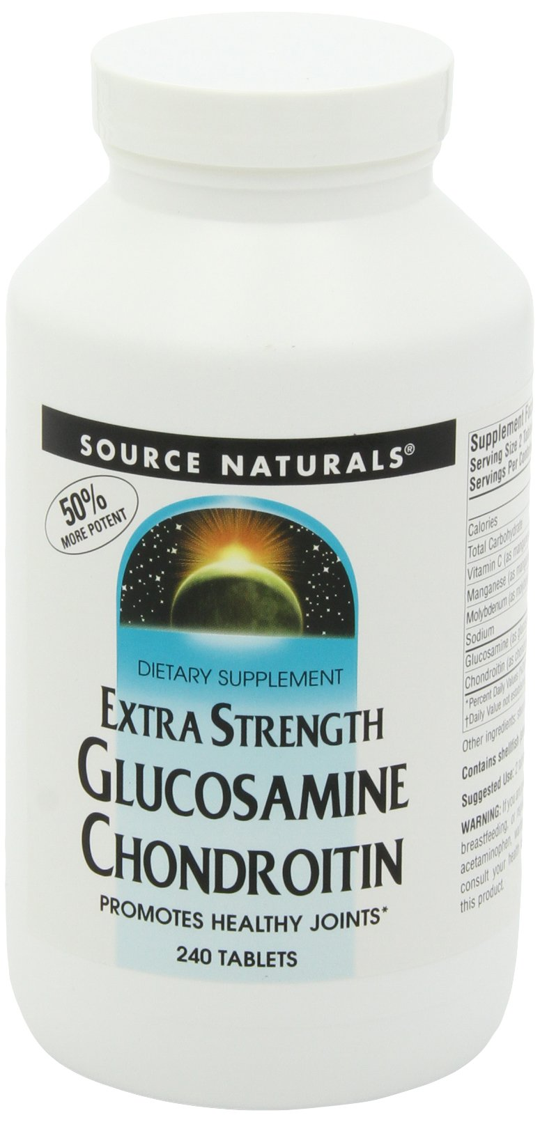 SOURCE NATURALS Glucosamine Chondroitin Extra Strength Tablet, 240 Count