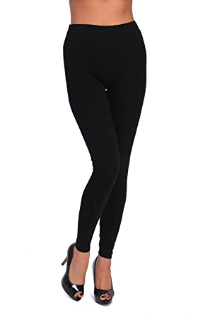 466574fadc6658 FUTURO FASHION® High Waisted Leggings Full Length Plus Sizes LWP Black Size  8