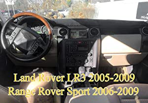 Yiz Dash Cover Mat Custom Fit for Land Rover LR3 2005-2009/Range Rover Sport 2006-2009 Dashboard Cover Pad Carpet (Black) J32