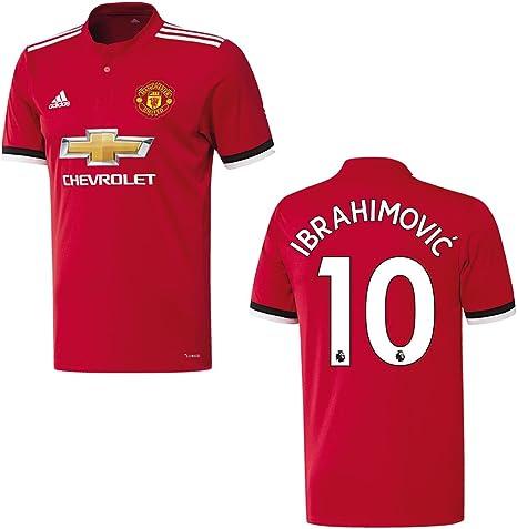 adidas Manchester United Camiseta Home Niños 2018 – Ibrahimovic 10, 164: Amazon.es: Deportes y aire libre