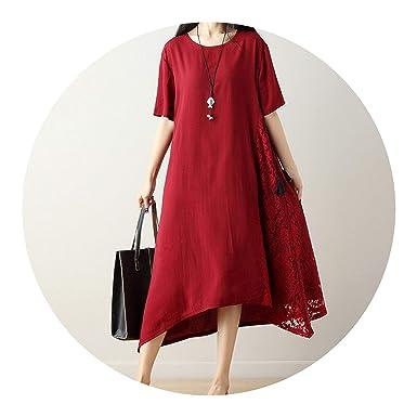 better-caress-2018 Autumn Vintage Dresses Lace Crochet Dress Women O Neck Short Sleeve