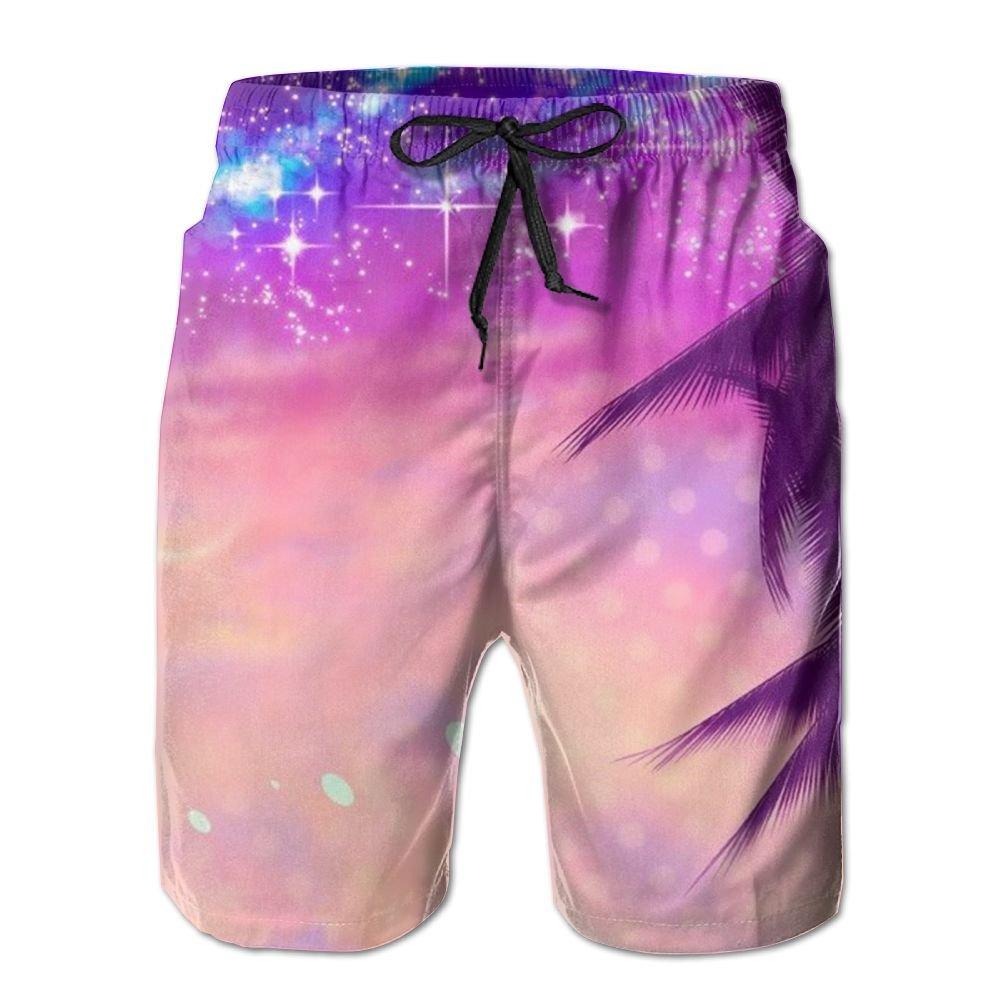 Beautiful Starry Sky Quick Dry Mens Household Beach Shorts Pants Swimwear