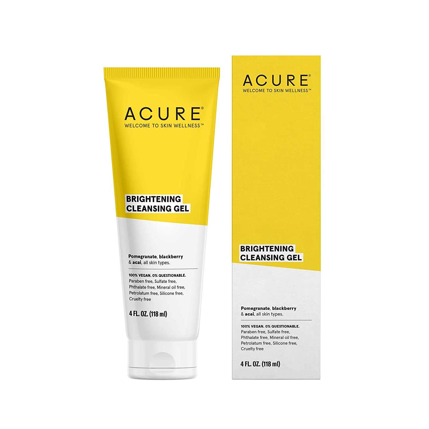ACURE Brilliantly Brightening Cleansing Gel, 4oz ET1010