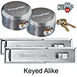 Master Lock (2 Hasp/Hidden Shackle Padlocks, 730-6271NKA-2 w/BumpStop Technology