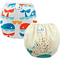 Alva Baby 2pcs Pack One Size Reuseable Washable Swim Diapers ZSWD02-04