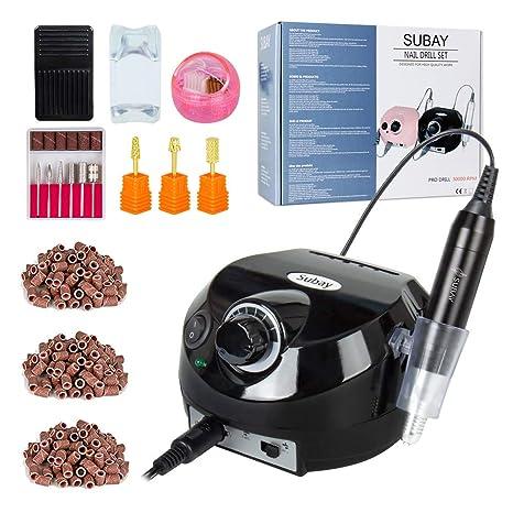 30000RPM Herramienta de manicura de Torno máquina de pulido de uña eléctrica Aparatos eléctricos con 3