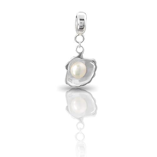 """dddc131075eb58 Andante-Stones argento massiccio Sterling 925 originale Pallina Charm  pendenti """"conchiglia con perla"""""""