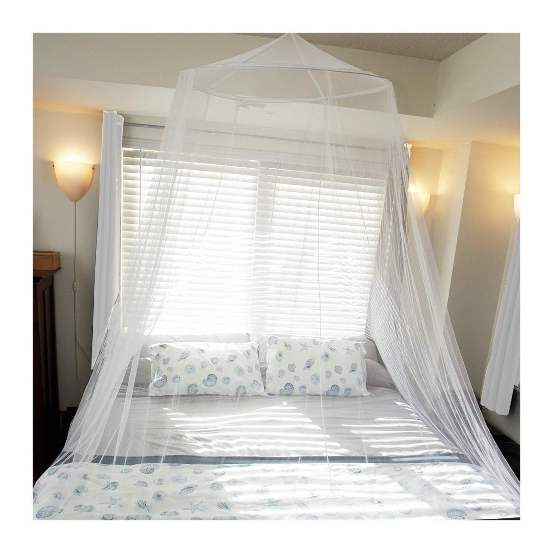 Tedderfield Premium Mosquito Net for King and California King Size Beds; Conical Screen Netting; Spacious Canopy Extra Wide Extra Long; Indoor Outdoor Use; Ideal for Travel; Insect Repellent Netting