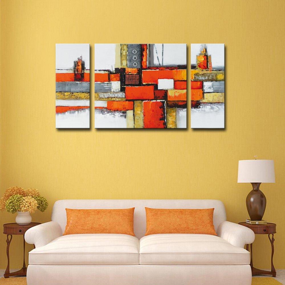 Amazon.com: Noah Art Contemporary Abstract Artwork, 100% Hand ...