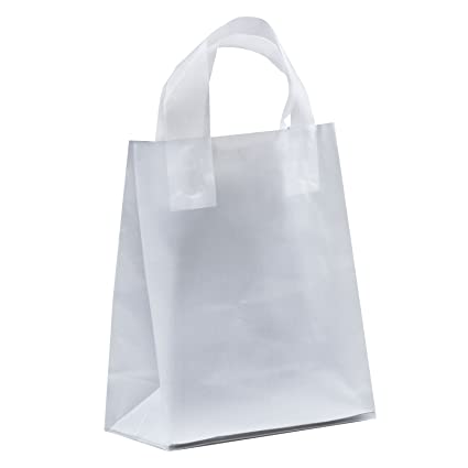 Amazon.com  250 pcs Clear Frosted Loop Handle Plastic Shopping Bag ... 5277eed6063f6