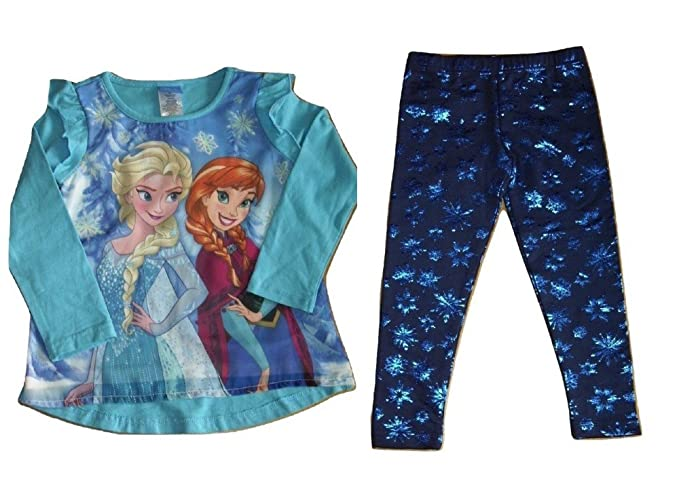 Disney Frozen Elsa Clothing Set Top and Leggings Cotton