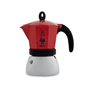 Bialetti 4923 Moka Induction Espresso Maker, Red