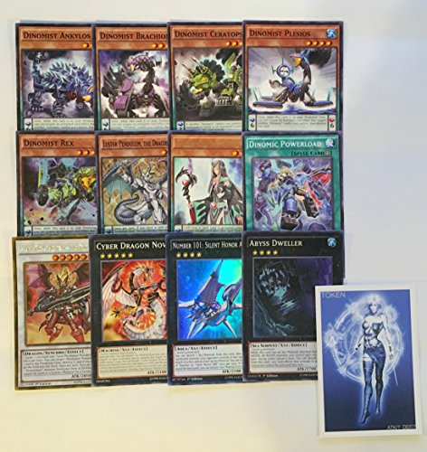 YUGIOH Tournament Ready Dinomist Deck with Complete Extra Deck and Exclusive Phantasm Gaming Token
