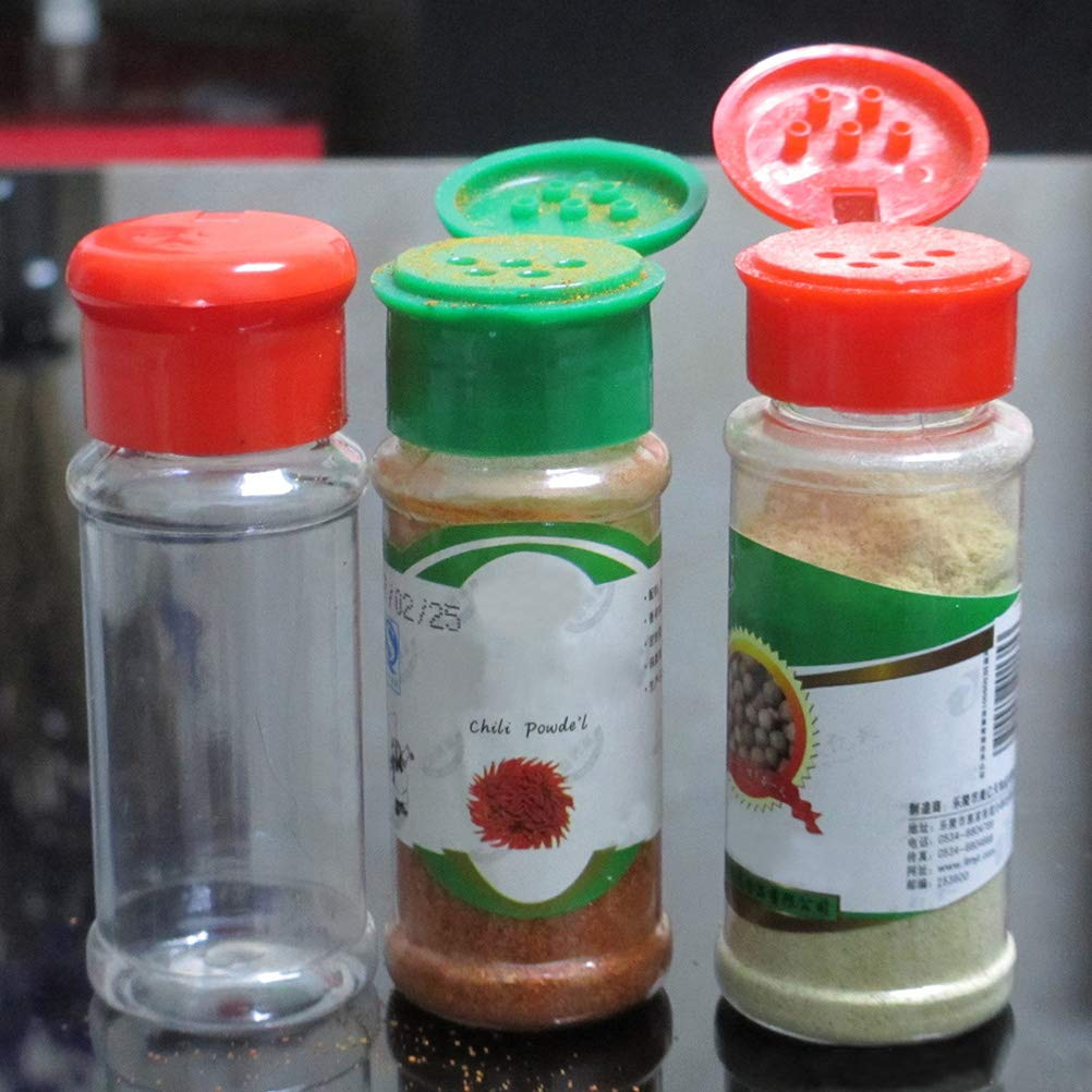 UPKOCH 12pcs Plastic Seasoning Bottle Spice Pot Pepper Shakers Salt Jar Condiment Can Cruet for Barbecue Kitchen Green