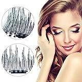 Beauty : Dual Magnetic False Eyelashes, All New 3D Reusable False Magnet Eyelashes, No Glue 1 pair (4 piece) 0.2MM Ultra Thin Fake Eyelashes for Natural Look, Charming Eyelashes In Seconds (Black)