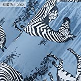 Jhyhome TV background wall bedroom TV background wall non-woven zebra wallpaper environmental protection odor personalized wallpaper, drill blue