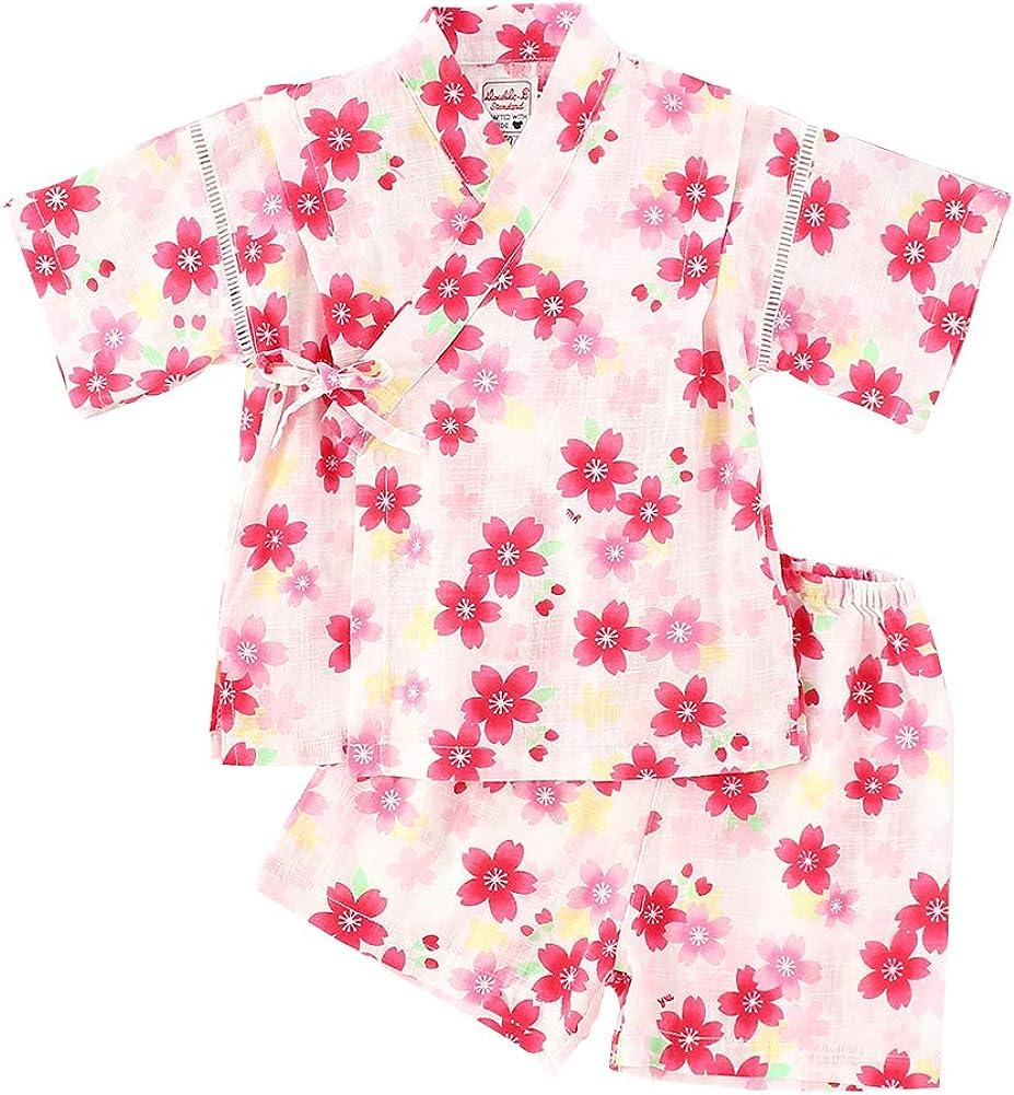 Camisa del Bebé Dormir Set Verano Japonesa Pijamas Pijama para Bebé Infantil Mono Algodón Kimono Estilo Japonés Ropa