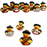 12 Vinyl Mariachi Band Rubber Ducks