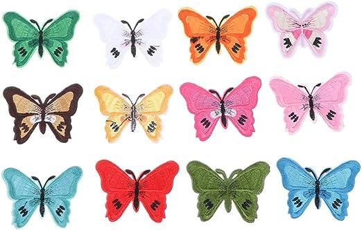 Healifty 12 Piezas Parches de Animales Parches de Mariposa ...
