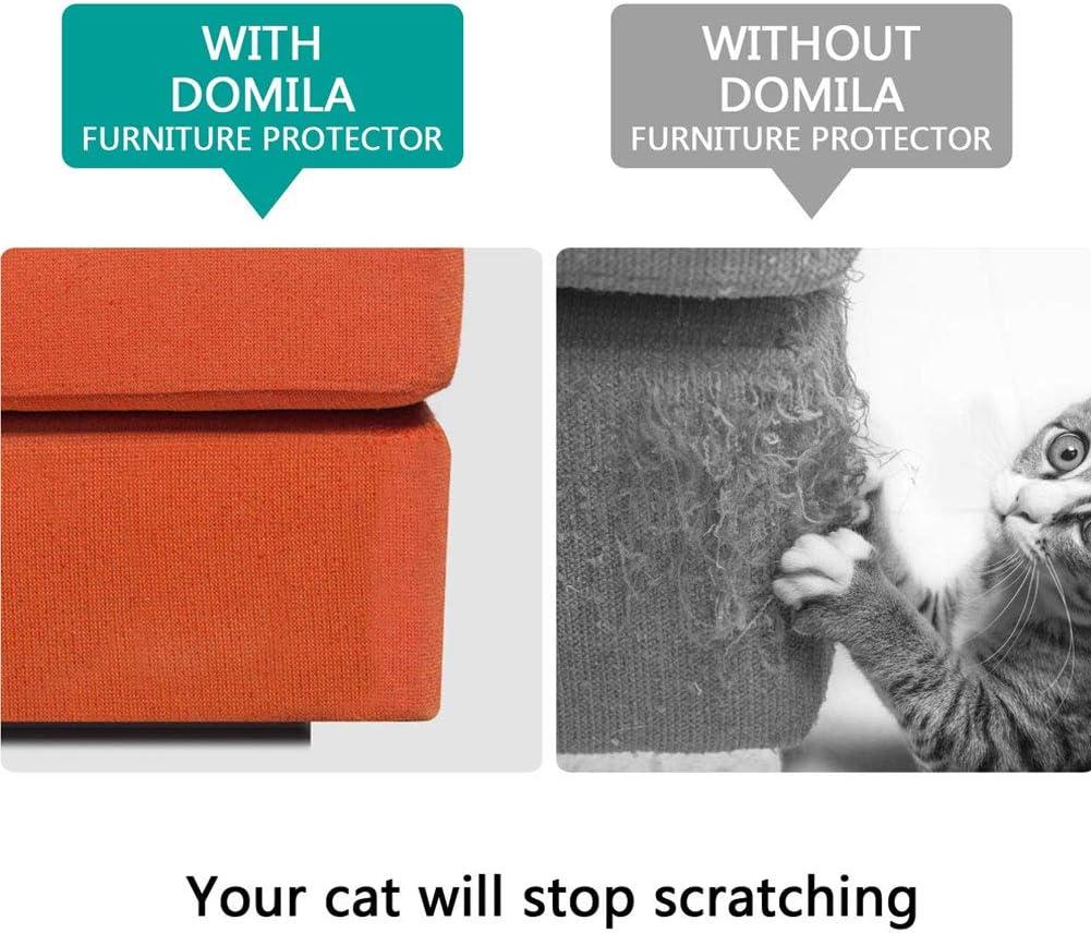 Gatos etc Vinilo WFZ17-2 Protectores de Muebles antiara/ñazos para Mascotas Large Transparente