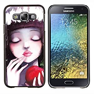EJOOY---Cubierta de la caja de protección para la piel dura ** Samsung Galaxy E5 E500 ** --Naturaleza Moon Mountain