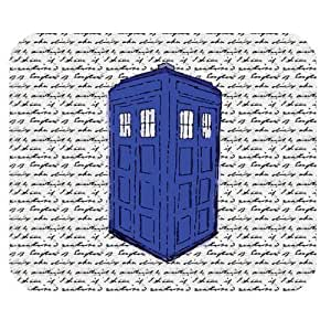 Generic Personalized Doctor Who Telephone Booth Time Machine and Notes for Rectangle Mouse Pad