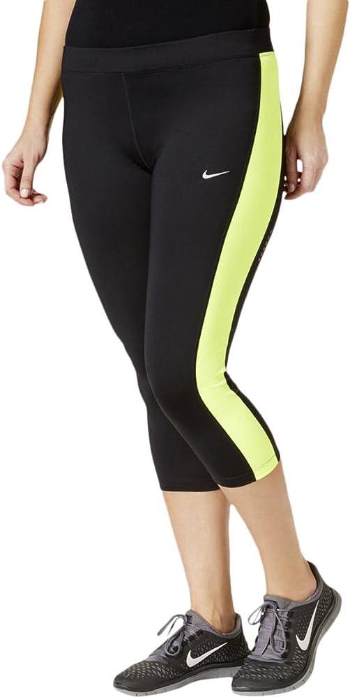 Amazon Com Nike Womens Plus Color Block Cropped Yoga Legging Black 3x Clothing