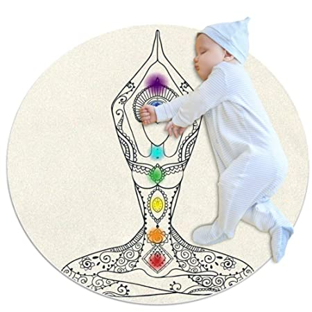 Wetia Salud del Yoga Alfombra Redonda para niños Al Aire ...