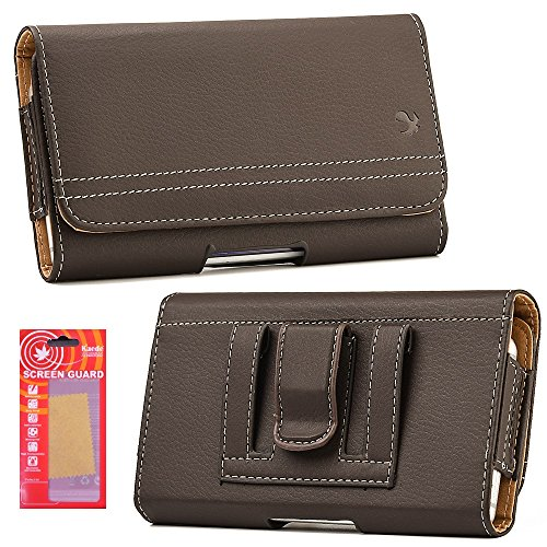 For Samsung Galaxy (S8 Plus) Case, Premium Horizontal Magnetic Closure Id Card Holder Belt Holster Carry Pouch Case Kaede [Screen Guard] Galaxy [S8 PLUS] (Brown) (Samsung Faceplates Brown)