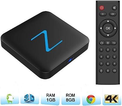 Zenoplige Z11 Android TV Box Android 6.0 Marshmallow Amlogic S905X 1G 8G 4K H.265 64BIT DLNA Miracast WiFi LAN Smart TV Box: Amazon.es: Electrónica