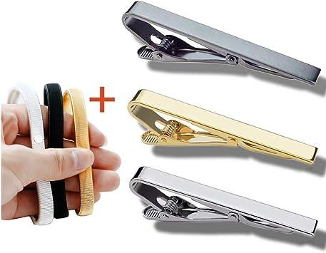 3pcs Tie Bar Clip para hombres y 3 pares de sujetadores de mangas ...