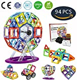Jasonwell 98 PCS Creative Magnetic Building Blocks for Boys Girls Magnetic Tiles Building Set Preschool Educational Construction Kit Magnet Stacking Toys Christmas Gift for Kids Toddlers Children