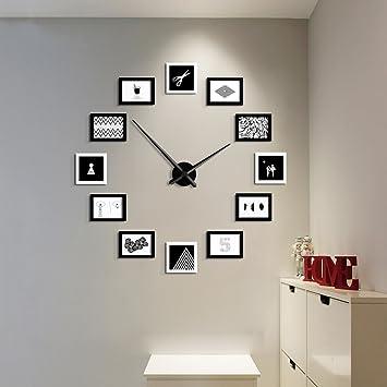 Dengju Klassische Uhren Und Uhren Fotorahmen Massivholz Collage
