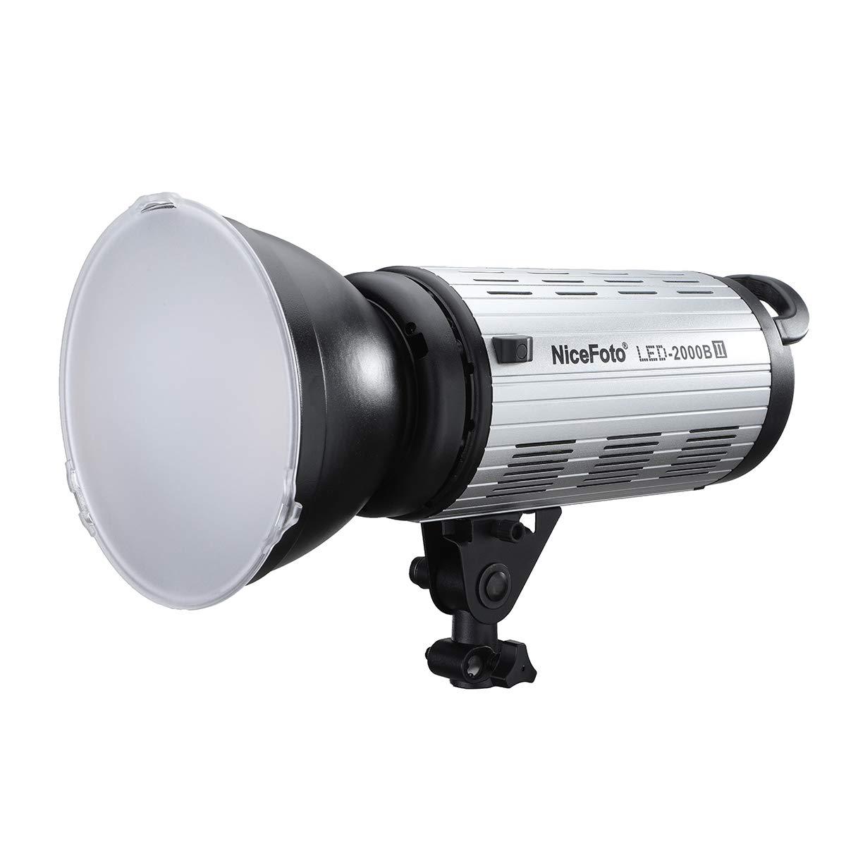 NiceFoto 200W 3200K/5600K 静音ファン bowensマウント デュアル電源対応 定常光照明 撮影用 youtube,映画、ドラマ撮影対応 COBライト (LED-2000B II) LED-2000B II  B07RLBPNNX