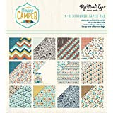 """My Mind's Eye Double-Sided Paper Pad 6""""X6"""" 24/Pkg-Happy Camper, 12 Designs/2 Each"""