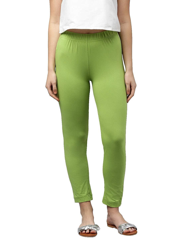 LUX LYRA Women's Straight Pant Slim (LYRA_KURTIPANT_1PC_Parrot Green_Free Size)