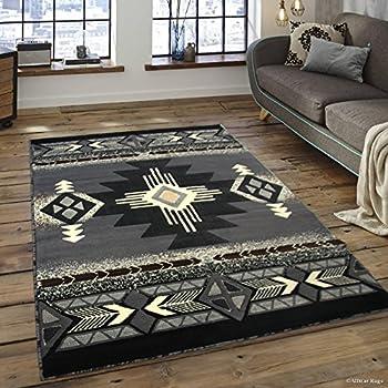 Amazon Com Allstar 5x7 Grey And Charcoal Grey Navajo