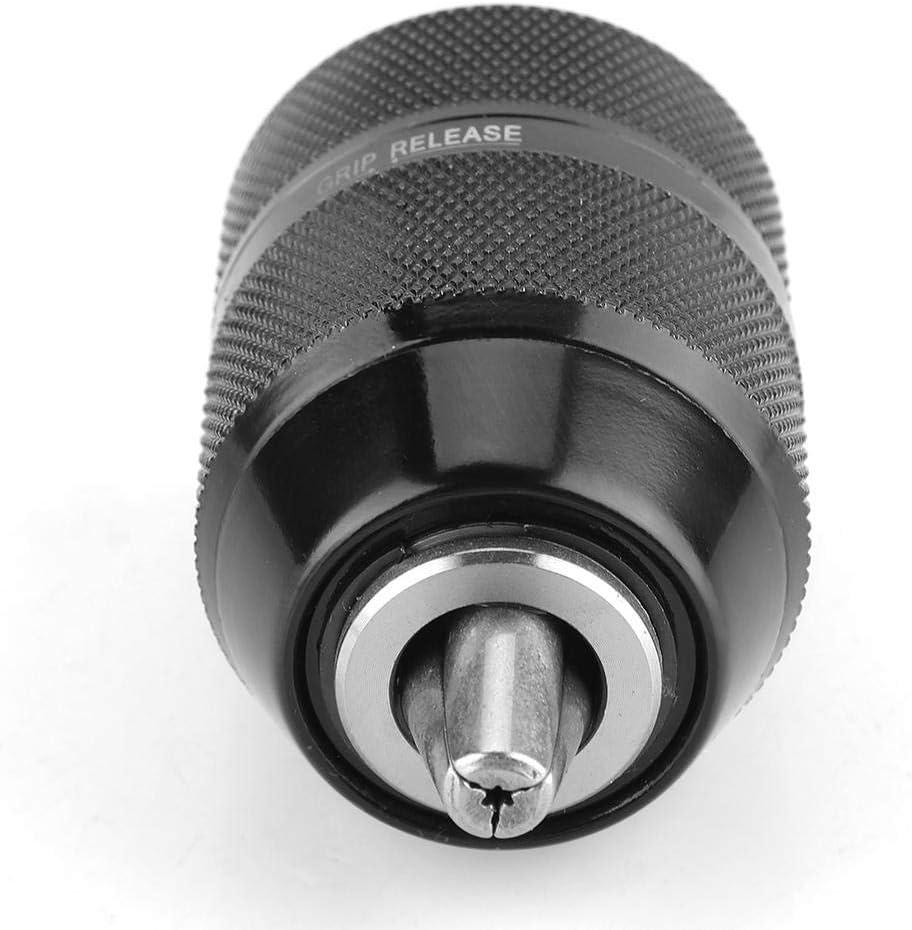 portabrocas sin llave con bloqueo autom/ático de montaje en acero de alta velocidad 1//2-20UNF para taladro de impacto Portabrocas totalmente met/álico de 13 mm